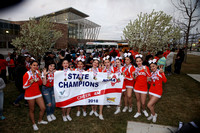 Taos Cheerleaders at State Competition 2018
