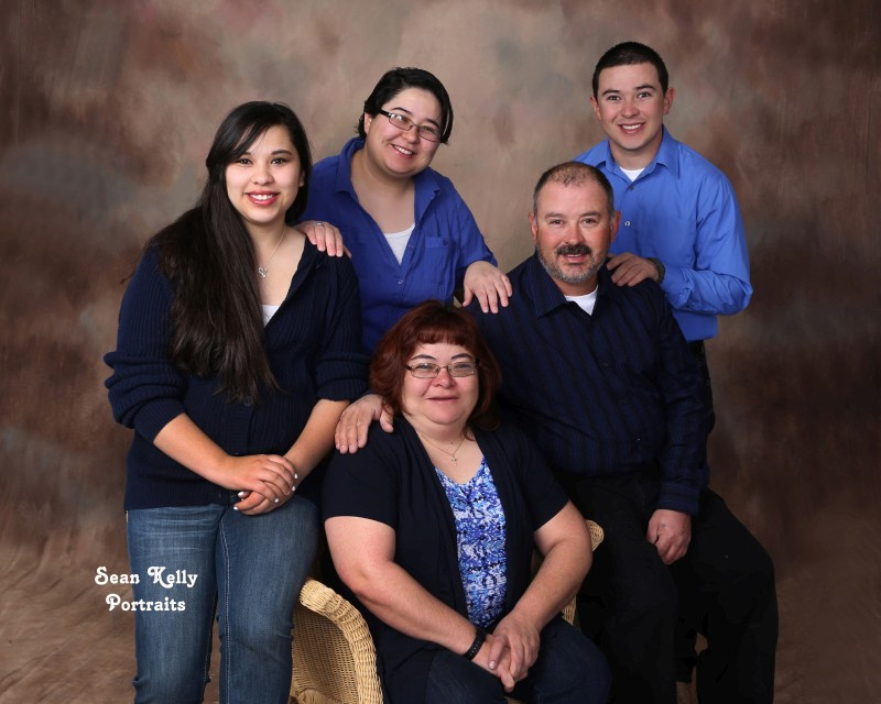 Pacheco Family Portrait, Taos, New Mexico, Traditional Studio Portrait